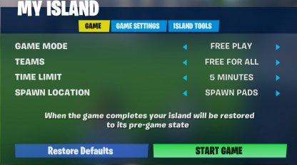 My Island Menu