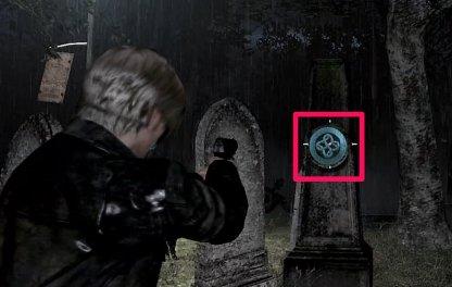 Emblem Location 1 - Behind Gravestone