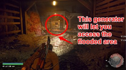 Use The Generator To Access The Flooded Area