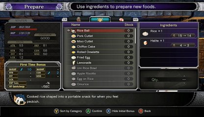 Bring All Potions & Prepare Food