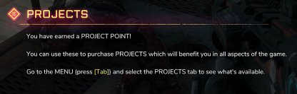 Earn Project Points To Unlock Upgrades