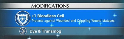 Equip Bloodless To Lessen Wounded Duration