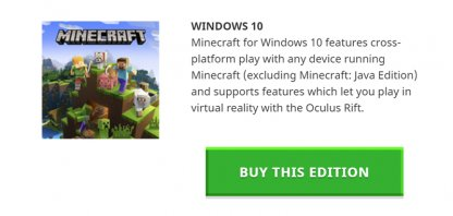 minecraft difference between java and windows 10