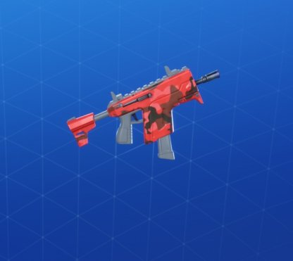 RED CAMO Wrap - Submachine Gun