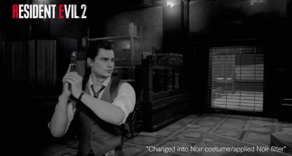 Resident Evil 2 Noir Costume and Filter
