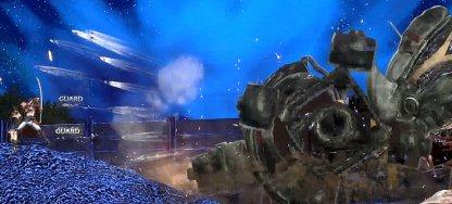 Hide Behind Zangetsu During Barrage Of Bullets