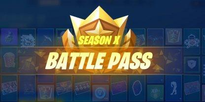 Season 10 (X)  Battle Pass Rewards List