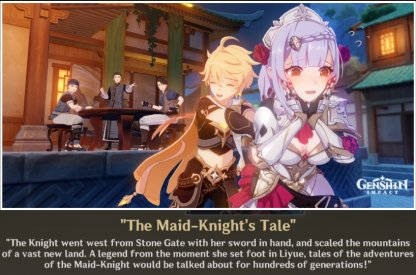 Ending 2: The Maid-Knight