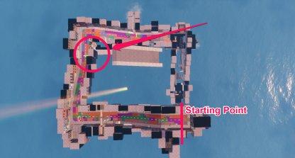 Jonesy Location - Near the Rooftops Map Location