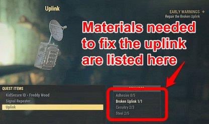 Fallout 76, Early Warnings - Quest Walkthrough