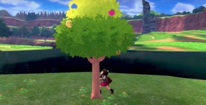 Shake Trees To Get Berries And Pokemon Battles