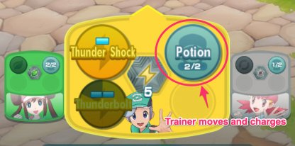 Trainer Moves and Charges