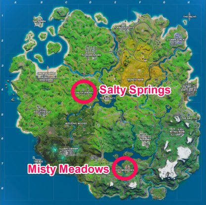 Misty Meadows / Salty Springs Chest :Locations