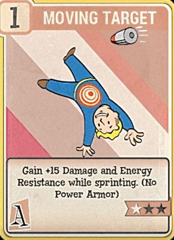 fallout 76 Perk Card Agility Moving Target