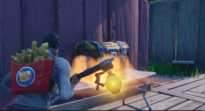 Fortnite Search Chests Or Ammo Boxes At Hotel Or RV Park