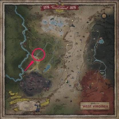 Fallout 76 Main Quest Mission First Contact Flatwoods Location