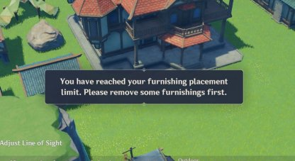 Limits The Amount of Furniture You Can Place