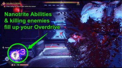 Nanotrite Abilities Fill Up Overdrive