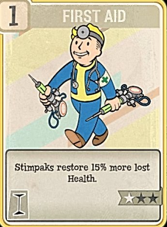 Fallout 76 Perk Card Intelligence First Aid