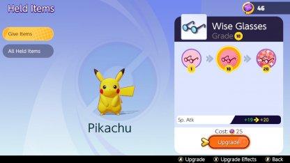 Lunettes de sagesse Pikachu Niv 10