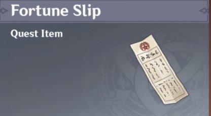 Fortune Slips