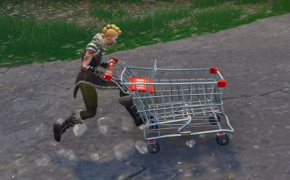 Shopping Cart Push To Move Forward