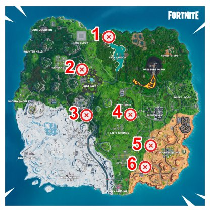 All Balloon Map Locations