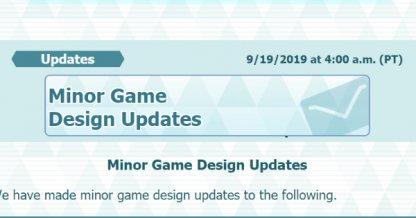 Update - September 19 2019