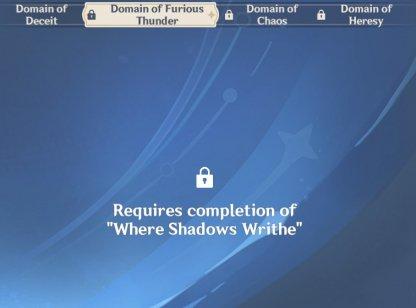 Where Shadows Writhe