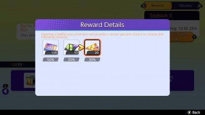 Battle Box Reward Details