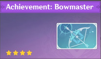 Complete To Get Achievement: Bowmaster Namecard
