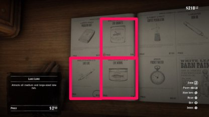 Red Dead Redemption 2 How to Fish Bait