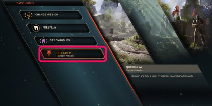 Join Missions Through Quick Play Mode For Bonus XP