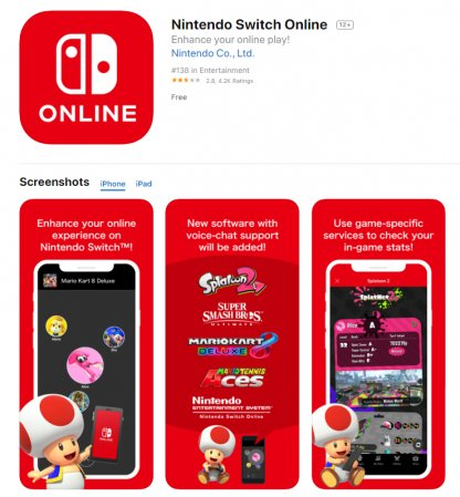 Install Nintendo Switch Online App