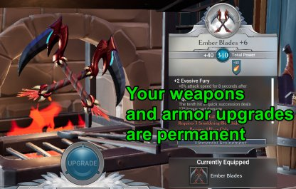 Armor & Weapon Upgrades Are Permanent