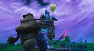 Bear Statue At South East Of Retail Row