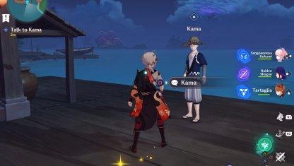 Talk To Kama in Ritou