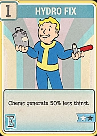 Fallout 76 Perk Card Endurance Hydro Fix