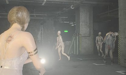 RE2 Parking Garage Zombies & Pale Heads
