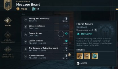 Pick Up Contracts From The Message Board
