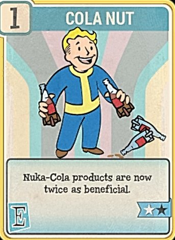 Fallout 76 Perk Card Endurance Cola Nut