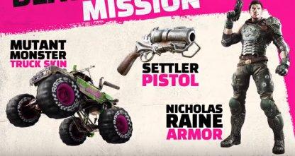 Settler Pistol, Monster Truck Skin & Nicholas Raine Armor