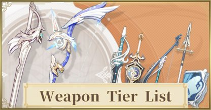 Weapon Tier List