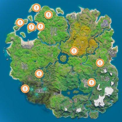 Landmark Map Locations