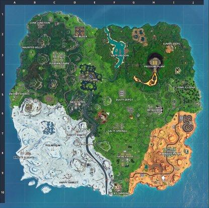 Current Fortnite Map