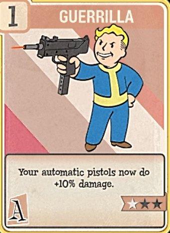 fallout 76 Perk Card Agility Guerilla