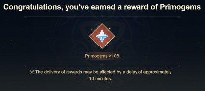 Collect 108 Primogems