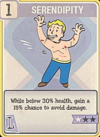 Fallout 76 Perk Card Luck Serendipity