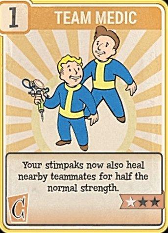 Fallout 76 Perk Card Charisma Team Medic