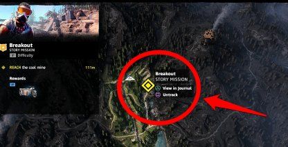 Coal Mine's Location in Breakout Mission
